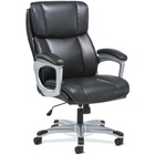 "Sadie 3-Fifteen Executive Leather Chair - Black Plush, Bonded Leather Seat - Black Plush, Bonded Leather Back - 5-star Base - 19.3"" Seat Width x 18.8"" Seat Depth - 28.3"" Width x 30.8"" Depth x 47.8"" Height - 1 Each"