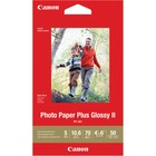 "Canon Plus Glossy II PP-301 Inkjet Photo Paper - 4"" x 6"" - 70 lb Basis Weight - 260 g/m² Grammage - Glossy - 20 / Pack - White"