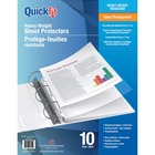"""QuickFit Letter Heavy Weight Sheet Protectors - 8.5"""" Width x 11"""" Length - For Letter 8 1/2"""" x 11"""" Sheet - 3 x Holes - Rectangular - Clear - Polypropylene - 10 / Pack"""