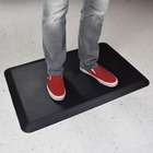 """Deflecto Anti-fatigue Mat - Multipurpose - 24"""" (609.60 mm) Length x 18"""" (457.20 mm) Width x 0.75"""" (19.05 mm) Thickness - Rectangle - Closed-cell Foam - Black"""