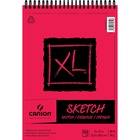 "Canson XL Sketch - 100 Sheets - Twin Wirebound - 50 lb Basis Weight - 74 g/m² Grammage - 9"" x 12"" - Micro Perforated, Removable, Erasable, Smooth, Acid-free"