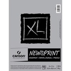 """Canson XL Newsprint - 100 Sheets - Twin Wirebound - 30 lb Basis Weight - 49 g/m² Grammage - 9"""" x 12"""" - Micro Perforated, Removable, Erasable, Textured - 1Each"""