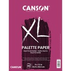 """Canson Foundation Disposable Palette - 40 Sheets - 80 Pages - Twin Wirebound - 9"""" x 12"""" - White Paper - Easy Tear, Rigid, Smooth Surface, Acid-free - 1Each"""