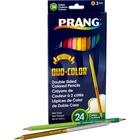 Prang Duo Colored Pencil - 3 mm Lead Diameter - Wood Barrel - 12 / Pack