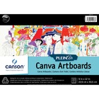 "Canson Plein Air Canva Art Board Pad - 10 Sheets - 20 Pages - Glued - 9"" x 12"" - Textured, Acid-free, Rigid - 1Each"