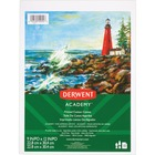 """Derwent Canvas Pad - 10 Sheets - Gummed - 9"""" x 12"""" - 12"""" (304.80 mm) x 9"""" (228.60 mm)0.31"""" (7.87 mm) - Acid-free, Removable, Textured, Ready to Use - 1"""