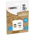 EMTEC Gold+ 16 GB Class 10/UHS-I (U1) microSDHC - 1 Year Warranty