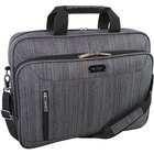 "Holiday Carrying Case (Briefcase) for 17.3"" Notebook - Gray - Bump Resistant, Scratch Resistant - Dobby Polytex - Handle, Shoulder Strap - 12"" (304.80 mm) Height x 4"" (101.60 mm) Width x 15.50"" (393.70 mm) Depth"