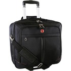"Holiday Travel/Luggage Case (Suitcase) for 15.5"" Notebook - Black - Bump Resistant, Scratch Resistant - Polyester - Handle, Shoulder Strap - 14.50"" (368.30 mm) Height x 16"" (406.40 mm) Width x 7.50"" (190.50 mm) Depth"