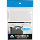 "Merangue Self Adhesive Business Card Pockets - 2.3"" Height x 3.8"" Width - 20 / Pack"