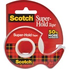 """Scotch Super-Hold Invisible Tape - 18 yd (16.5 m) Length x 0.75"""" (19 mm) Width - Strong, Durable, Photo-safe - Dispenser Included - 1 Roll - Clear"""