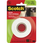 "Scotch Mounting Tape - 5 ft (1.5 m) Length x 1"" (25.4 mm) Width - Foam - Strong, Double-sided, Heavy Duty - 1 - Clear"