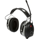 WorkTunes AM/FM Radio Protective Headphones - Stereo - Wired/Wireless - Bluetooth - 25 ft - Over-the-head - Binaural - Circumaural - Noise Reduction Microphone - Black/Silver