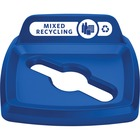 Rubbermaid Commercial Untouchable 23 Gal Square Lid Mixed Recycling Blue - Square - Resin - 1 Each - Blue