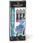 Sheaffer Calligraphy Mini Kit - Fine, Medium, Bold Pen Point - Red, Green, Blue, Black