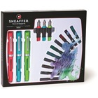 Sheaffer Calligraphy Maxi Kit - Fine, Medium, Bold Pen Point - Red, Green, Blue, Black, Turquoise, Purple, Brown - 1