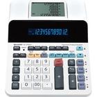 "Sharp ELDP9001 Paperless Printing Calculator - Dual Power - 12 Digits - LCD - AC/DC Supply Powered - 2.6"" x 7.6"" x 10"" - White - Desktop - 1 Each"