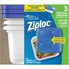 Ziploc® Storage Ware - Food Container - Dishwasher Safe - Microwave Safe - 3 Piece(s) / Pack