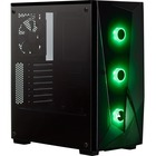 "Corsair Carbide Series SPEC-DELTA RGB Tempered Glass Mid-Tower ATX Gaming Case - Black - Mid-tower - Black - Steel, Tempered Glass - 4 x Bay - 4 x 4.72"" (120 mm) x Fan(s) Installed - Mini ITX, Micro ATX, ATX Motherboard Supported - 6.35 kg - 6 x Fan(s) Su"