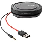 Plantronics Calisto 5200 Speakerphone - USB - Microphone - Battery - Portable - Black