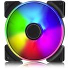 Fractal Design Prisma AL-14 Cooling Fan - 63.3 CFM - 19.4 dB(A) Noise - LLS Bearing - 3-pin - RGB LED - Rubber - 11.4 Year Life