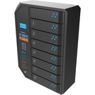 """ChargeTech 8 Bay Pin Code Charging Locker - Pin Number Lock - In-Floor - for Wallet, Key, Camera - Overall Size 26"""" x 19"""" - Charcoal"""