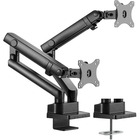 "Amer Mounting Arm for Curved Screen Display, Flat Panel Display - Matte Black - 2 Display(s) Supported32"" Screen Support - 16 kg Load Capacity"