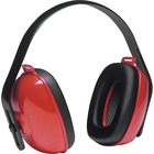 Howard Leight QM24+ 3-position Earmuff - Lightweight, Adjustable Strap, Washable, Adjustable Headband, Dielectric - Ear Protection - Strap Closure - Plastic, Soft Foam Cushion - Red, Black, High Visibility Red - 1 Each