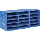 """Bankers Box Bankers Box Classroom 15 Compartment Literature Sorter, 1pk - External Dimensions: 28.5"""" Width x 12.4"""" Depth x 12.8"""" Height - Media Size Supported: Letter 8.50"""" (215.90 mm) x 11"""" (279.40 mm) - Blue - For Classroom Supplies, Storage - Recycled"""