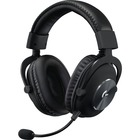 Logitech PRO Gaming Headset - Stereo - Mini-phone (3.5mm) - Wired - 35 Ohm - 20 Hz - 20 kHz - Over-the-head - Binaural - Circumaural - 6.6 ft Cable - Electret, Condenser, Uni-directional, Cardioid Microphone - Noise Canceling