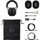 Logitech PRO X Gaming Headset with Blue Vo!ce - Stereo - Mini-phone - Wired - 35 Ohm - 20 Hz - 20 kHz - Over-the-head - Binaural - Circumaural - Electret, Condenser, Uni-directional, Cardioid Microphone - Noise Canceling - Black