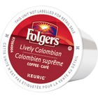 Folger Lively Colombian Coffee K-Cup - Compatible with Keurig K-Cup Brewer - Caffeinated - Lively Colombian - Medium/Dark - Pod - 24 / Box