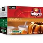 Folger Caramel Drizzle Coffee K-Cup - Caramel Drizzle - Medium - Pod - 24 / Box