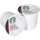 Starbucks Caffe Verona Coffee K-Cup - Compatible with Keurig K-Cup Brewer - Caffeinated - Caffé Verona, Dark Cocoa, Dark Chocolate, Latin America, Asia/Pacific, Italian Roast - Dark - Pod - 24 / Box