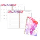"""At-A-Glance Smoke Screen Planner - Julian Dates - Weekly, Monthly - 1 Year - January 2020 till December 2020 - 1 Week, 1 Month Double Page Layout - 6 1/4"""" x 8 1/2"""" Sheet Size - Twin Wire - Metallic Gold, Rose Gold - Paper - Clear - Tabbed, Reference Calen"""