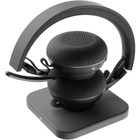 Logitech Zone Wireless Plus Headset - Stereo - Wireless - Bluetooth - 98.4 ft - 30 Hz - 13 kHz - Over-the-head - Binaural - Circumaural - Omni-directional, MEMS Technology, Noise Cancelling Microphone - Noise Canceling
