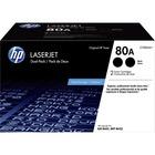HP 80A (CF280AD1) Toner Cartridge - Black - Laser - 2560 Pages (Per Cartridge) - 2 Pack