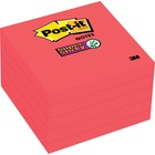 "Post-it® Super Sticky Adhesive Note - 3"" x 3"" - Square - 30 Sheets per Pad - Candy Red - Paper - Sticky, Recyclable, Removable, Adhesive - 5 Pad"