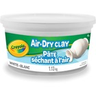 Crayola White Air-Dry Clay - Multipurpose, Multi Surface - Recommended For - White