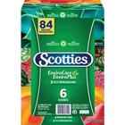 Scotties EnviroCare Facial Tissue Multi-Pack - 2 Ply - Comfortable, Soft, Absorbent, 2-ply - For Face, Food Service, School, Industry, Hotel, Office Quantity Per Box - 6 / Pack