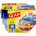 Glad Gladware Soup & Salad - Plastic Bowl - Soup, Food, Salad, Stew - Dishwasher Safe - Microwave Safe - Clear - 5 Piece(s) / Set
