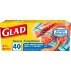 "Glad Freezer Bag - 946.35 mL - 7"" (177.80 mm) Width x 7.75"" (196.85 mm) Length - Clear - Plastic - 40/Box - Food"