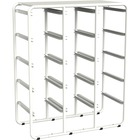 "Storex Metal Cubby Bin Storage Rack - 15 Compartment(s) - 35"" Height x 27.8"" Width x 13"" Depth - Assorted - Metal - 1Each"