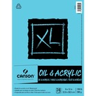 "Canson XL Oil & Acrylic Pad - 24 Sheets - Glue - 136 lb Basis Weight9"" (228.60 mm)12"" (304.80 mm) - Bleed-free, Durable Cover, Acid-free, Sturdy"