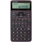 "Sharp 10-digit Professional Financial Calculator - Hard Case - 2 Line(s) - 10 Digits - LCD - Battery Powered - 1 - CR2032 - 0.5"" x 3"" x 5.9"" - Black - Handheld"