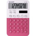 "Sharp 8-digit Large Desktop Calculator - 3-Key Memory, Dual Power, Angled Display, Automatic Power Down, Extra Large Key - 8 Digits - LCD - Battery/Solar Powered - 1 - LR54 - 0.9"" x 3"" x 4.7"" - Pink - Plastic - Desktop"