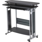 "Safco Scoot Standing Height Desk - 47.3"" Table Top Width x 21.5"" Table Top Depth - 42.3"" Height - Assembly Required"