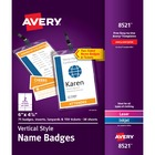 Avery® Vertical Name Badges & Tickets