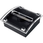 3M Pop-Up Design Series Note Dispenser - Black, Clear