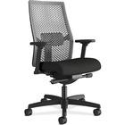"HON Ignition I2MRL2AC10 Task Chair - Black Frame - Black - 27"" Width x 28.5"" Depth x 44.5"" Height - 1 Each"